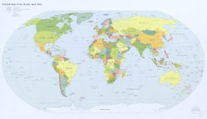 The World Political Map  | April 2005 | Large, Printable Downloadable Map