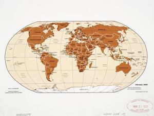 The World Political Map  | February  2008 | Large, Printable Downloadable Map
