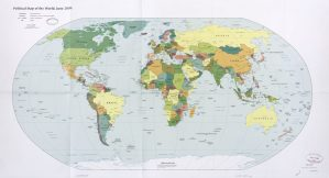 The World Political Map    June 2009   Large, Printable Downloadable Map