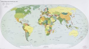 The World Political Map    June 2012   Large, Printable Downloadable Map