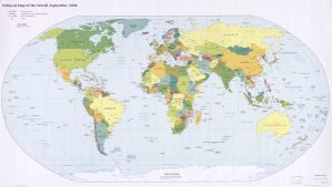 The World Political Map  | September 2008 | Large, Printable Downloadable Map S