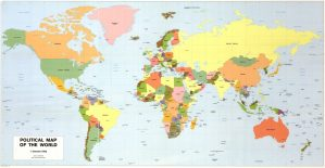 The World Political Map  | September 1982 | Large, Printable Downloadable Map