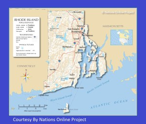 Rhode Island Transportation and physical map large printable