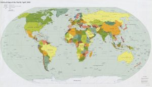 The World Standard time zones Map   | 2000 | Large, Printable Downloadable Map
