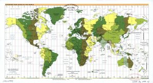 The World Standard time zones Map   | 2006 | Large, Printable Downloadable Map