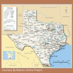 Texas Transportation And Physical Map Large Printable Whatsanswer