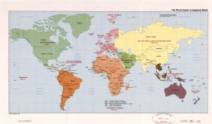 The World Regional Map  | 1992 | Large, Printable Downloadable Map