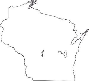 Wisconsin blank outline Map | Large Printable High Resolution and Standard Map