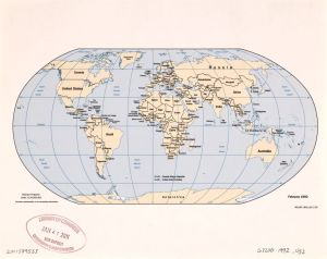 The World Political Map    1992   Large, Printable Downloadable Map