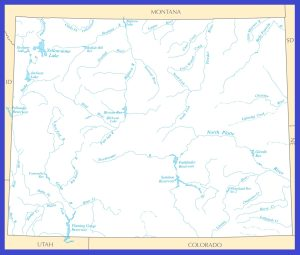 Wyoming Rivers Map | Large Printable High Resolution and Standard Map