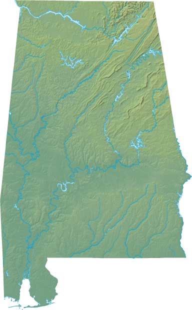 Alabama Large Political  Map   Political  Map of Alabama With Capital , city and River lake-3