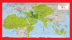 The World Religion Map |  World Muslim Distribution Map | Large, Printable Downloadable Map