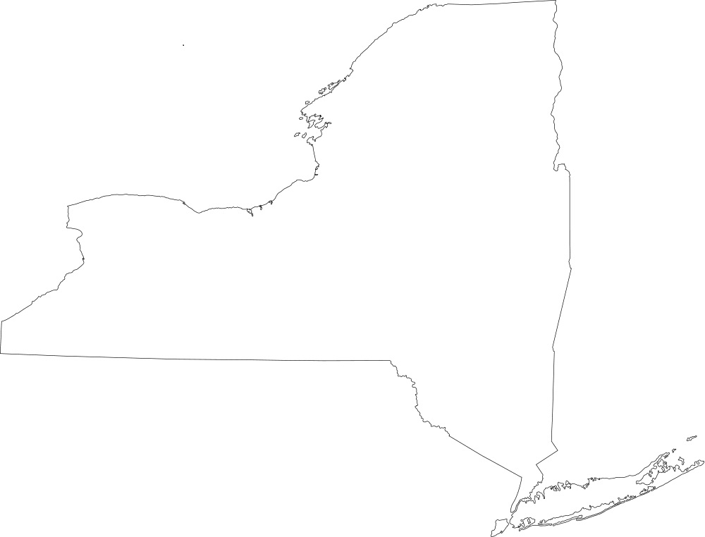 New York blank outline Map | Large Printable High Resolution and Standard Map