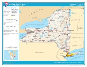New York Political Map | Large Printable High Resolution and Standard Map