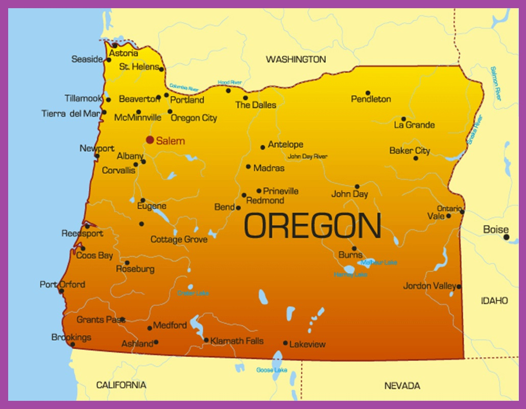 Oregon Political Map | Large Printable High Resolution and Standard Map