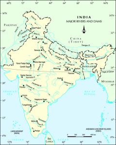 River Map of India | Major Indian Rivers Map