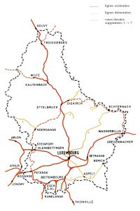 Railway Map of Luxembourg | Luxembourg Train Routes