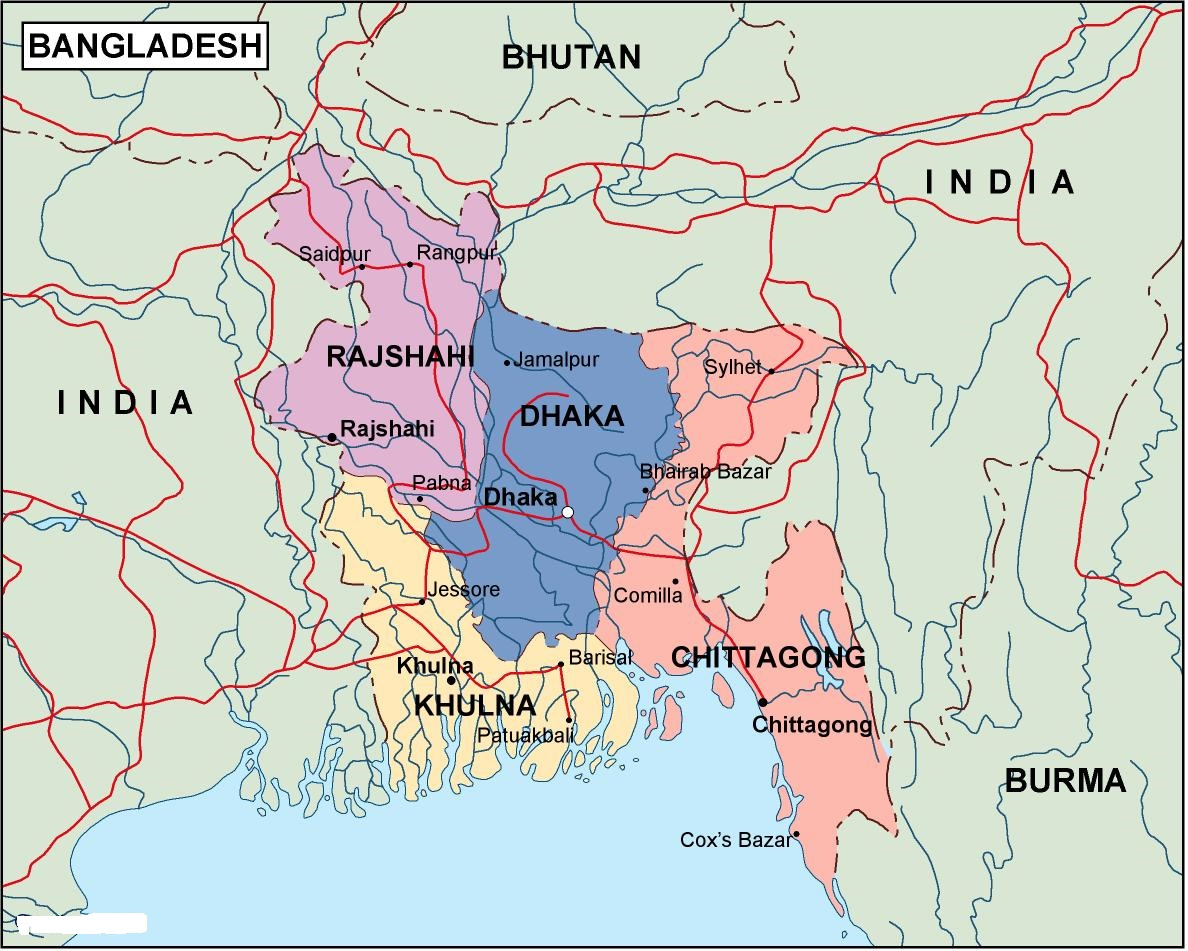 National Map of Bangladesh | Symbols of Bangladesh