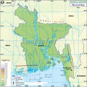 Latitude And Longitude Map Of Bangladesh | Where Is Bangladesh ?
