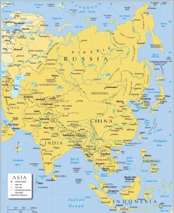 Map of Asia | Political Map of Asia with Borders