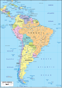 Map of South America | HD Political Map of South America