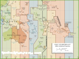 Time Zone Map of Oceania | Oceania Time Zone Map