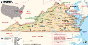 Map of Virginia | Political, County, Geography, Transportation, And Cities Map