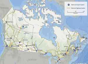 Transport Map of Canada | Roads And Highways of Canada