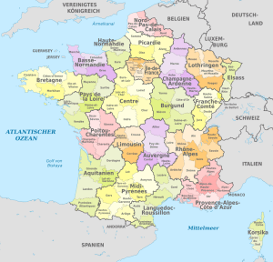 Administrative Map of France   Large Administrative Division Map