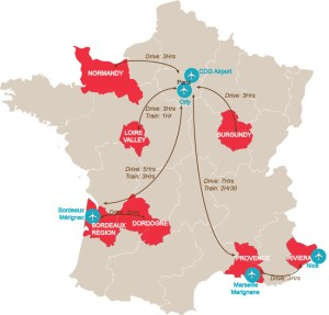 Airport Map of France   Major France Airport Map