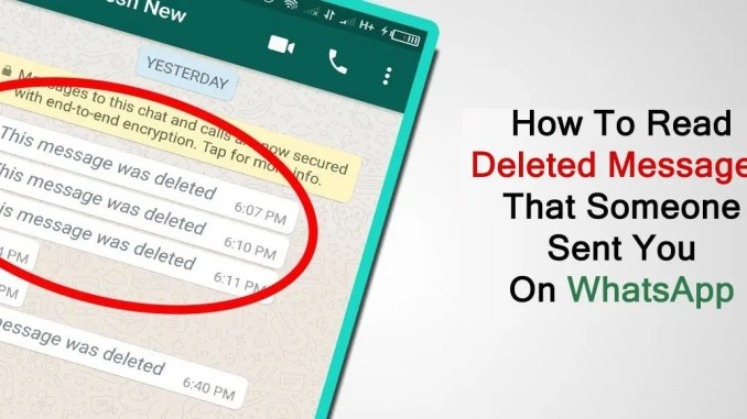View Deleted Messages On Whatsapp-How to