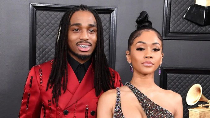 Quavo Spoils Saweetie With a Bentley For Christmas
