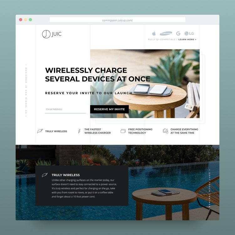 Juic Wireless - Landing Page Preview (Made In Unbounce by Esper Inbound)