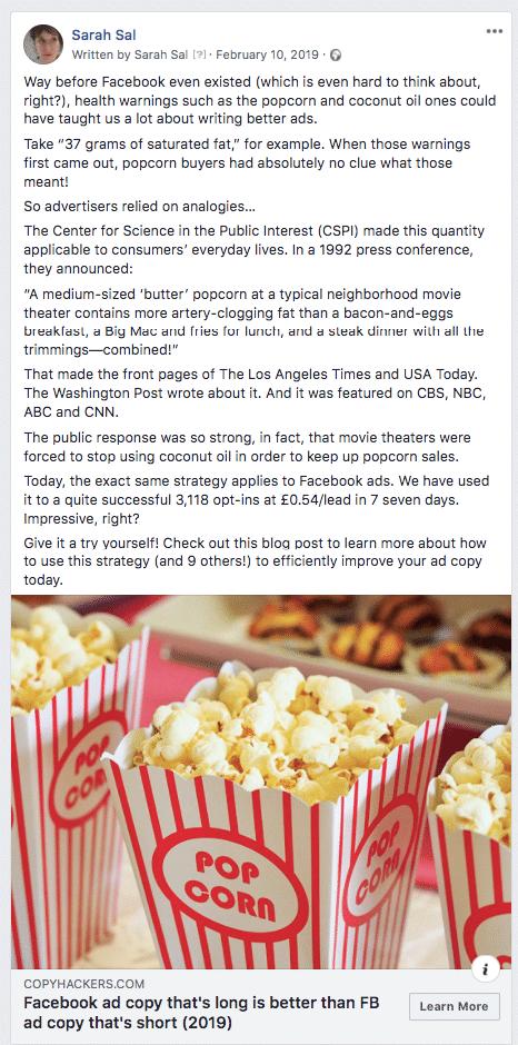 Popcorn Analogy