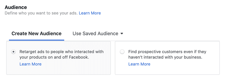 Retargeting Audience