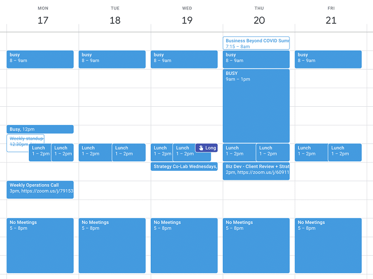 Your calendar is the boss
