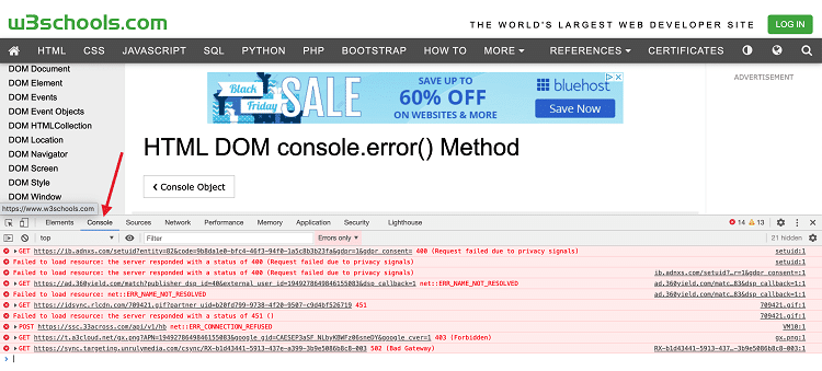 Nasty JavaScript Errors in the Browser Console WordPress