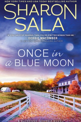 #BookReview Once in a Blue Moon (Blessings, Georgia #10) by Sharon Sala @SharonSala1 @SourcebooksCasa #OnceinaBlueMoon #SharonSala