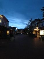 A quiet walkway along Washington Street Mall. The silence before the summer tourist season.