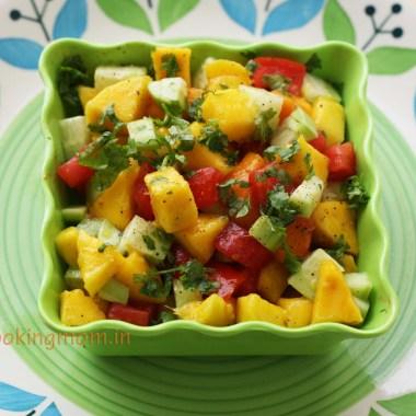 Mango salad - sweet, tangy, fruity, healthy, summer salad