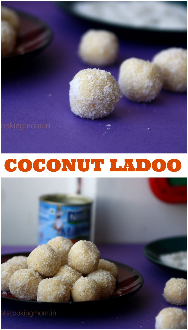 coconut ladoo - ready in fifteen minutes, 2 main ingredients, easy recipe, Diwali sweets