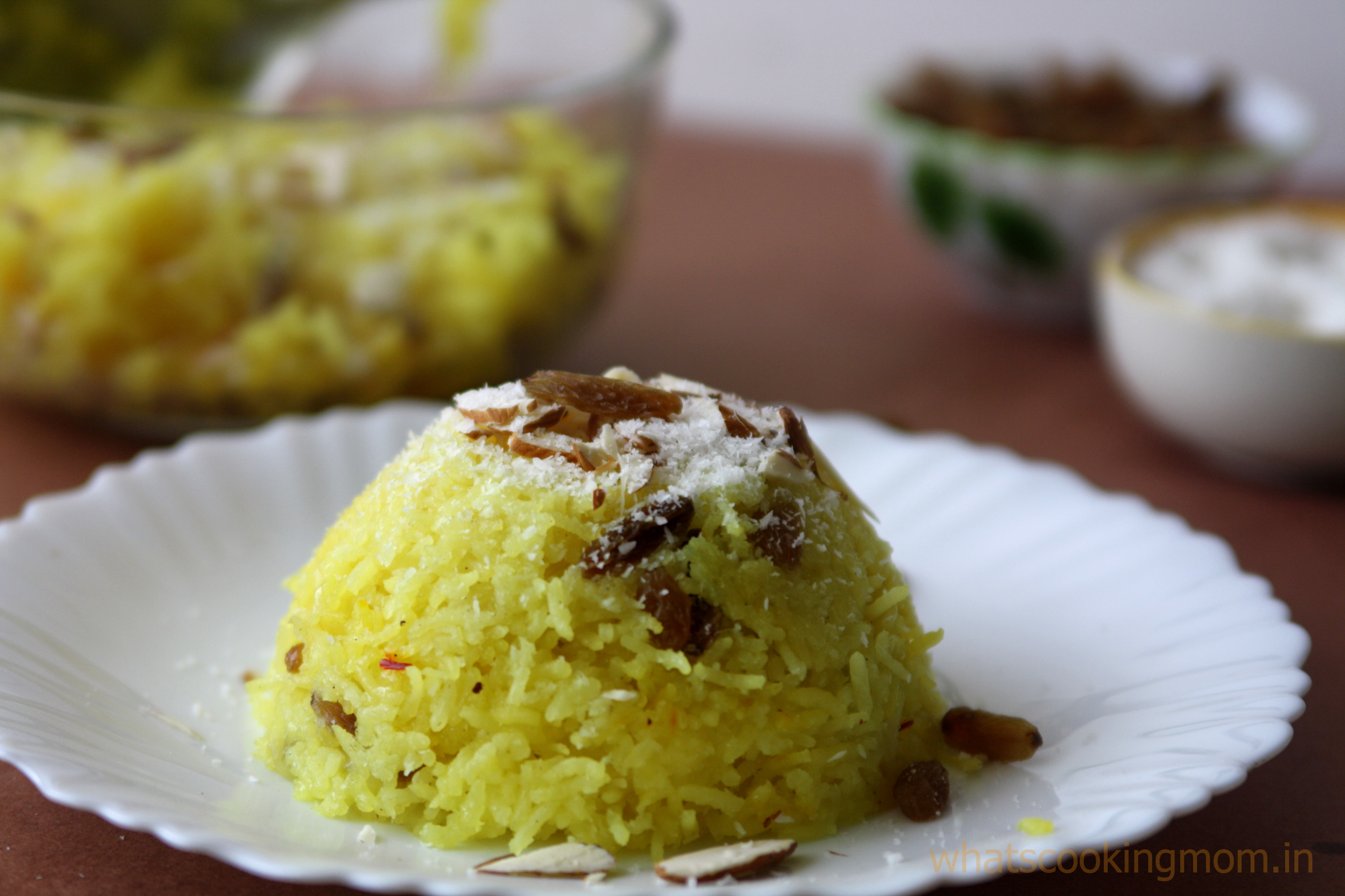 Meethe Chawal - Traditional Indian sweet Dish made with Basmati rice and flavored with Saffron