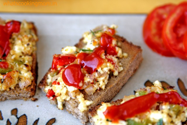 bread pizza with cottage cheese 2