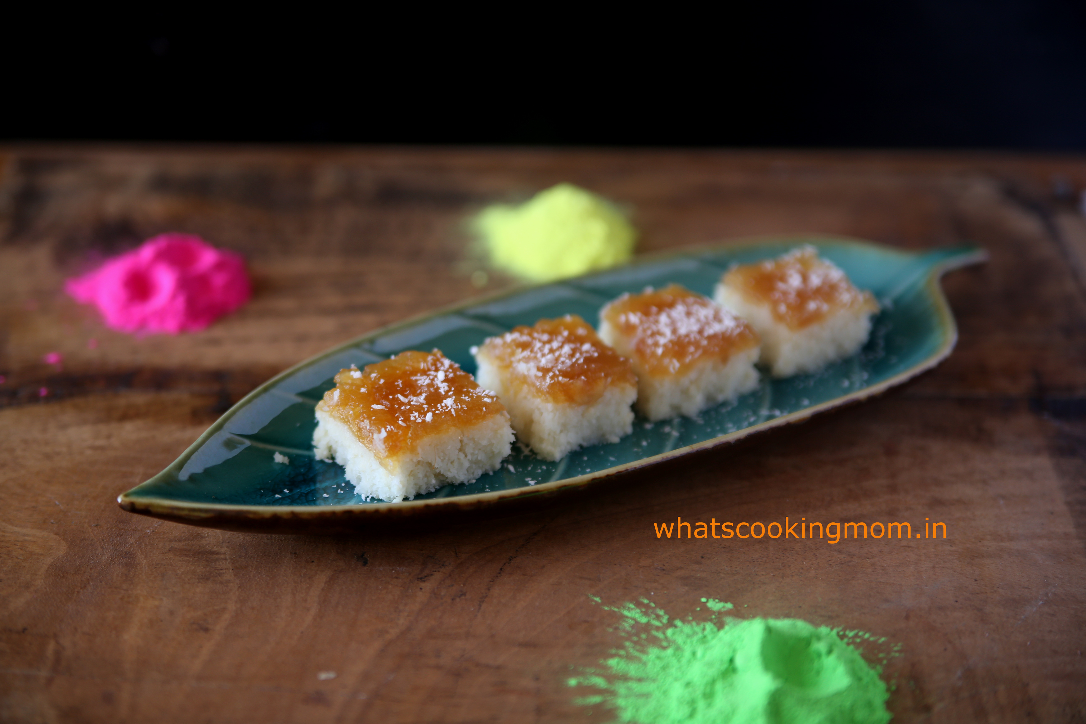 nariyal burfi with apple pie filling 3