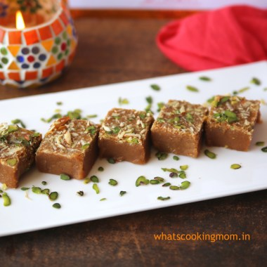 Mohan Thal - traditional Indian sweet. #indian #sweet #diwali