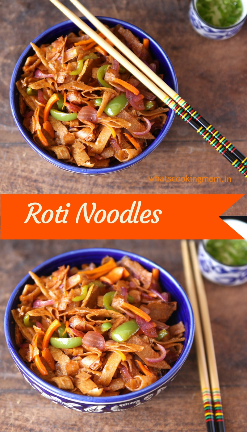 Roti Noodles #indian #vegetarian #healthy #snack #fusionfood