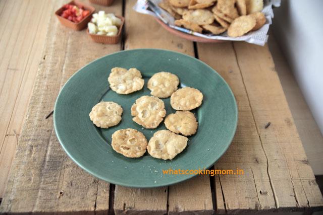 Sev Papdi - Indian Chaat Recipe, vegetarian snacks