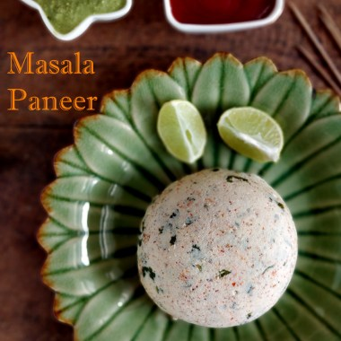 Homemade Masala Paneer - homemade spiced cottage cheese, healthy vegetarian appetizer, nutritious, good for kids