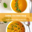 Golden Zucchini soup collage
