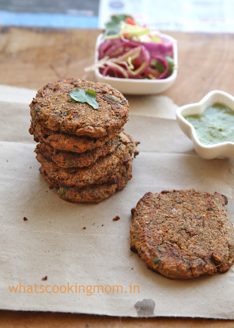 Black chickpea Kebabs recipe - high protein snack, appetizer, healthy snack for kids, vegetarian party snacks